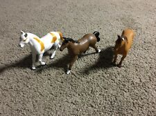 (Aw1) Lot of 3 Funrise Pvc Horse Figures, Danish Warm Blood Brumby Mustang