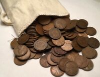 50 Unsearched Lincoln Wheat Pennies Cents PDS 1909-1958 WITH INDIAN HEAD PENNIES