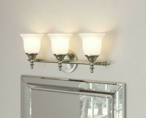 Bathroom Vanity Light Bell Shaped Frosted Glass NB39302 Hampton Bay Home Wall