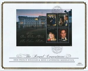 GUYANA 4 APRIL  2011 ROYAL ENGAGEMENT M/SHEET O/S VLE FIRST DAY COVER a