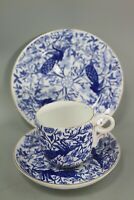 Royal Crown Derby 'Peacock' Blue Tea Cup Trios 1877-1890 (Multiple Available)