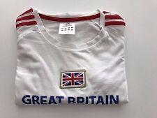 Rare Men's Adidas White Team GB T-Shirt Tee L 2012 London Olympics Issue RRP £30