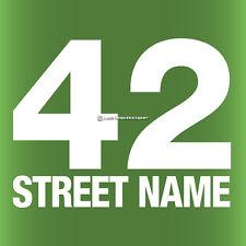 3x WHEELIE BIN STREET NUMBER Custom Waterproof Vinyl Sign Decal Stickers