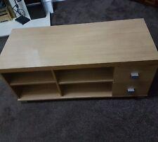 Tv Stand Unit Wood Oak Effect Storage Shelf Drawer Living Room Modern Furniture