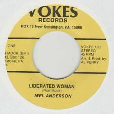 MEL ANDERSON 45 LIBERATED WOMAN B/W S-O-A-P EX VOKES RECORDS 123 COUNTRY NOVELTY