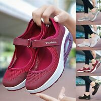 Women's Non-slip Sport Slip On Air Cushion Grey Shoes Breathable Casual Sandals