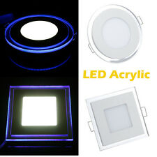 10W 15W 20W LED Acrylic Ceiling Recessed Downlight Round Panel Spot Light Lamps