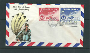 PHILIPPINES 1960 25th ANNIVERSARY of AIR FORCE Cover FDC VF