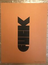 F-BOMB by Olly Moss - RARE Signed Original Print (38/50) 1st Edition