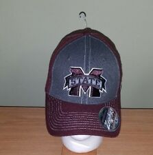 fac68281184 Mississippi State Bulldogs NCAA Maroon and Gray Fitted Zephyr M L Hat NEW