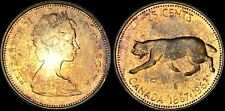 1967 CANADA COUGAR SILVER 25 CENTS HIGH QUALITY CIRCLE TONED COIN