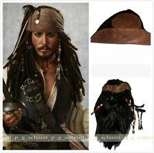 Film Pirates of the Caribbean Jack Sparrow Cosplay Wig + Hap+ Beard