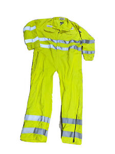 Bulwark Flame Resistant Hi-Vis Coveralls 58-Rg Excellant Condition