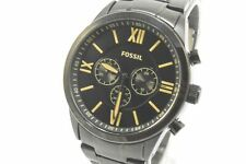 Fossil BQ2151 Flynn Black Tone Stainless Steel Bracelet Men's Chronograph Watch