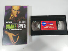 Snake Eyes Tape Vhs Nicolas Cage Brian de Palm Gary Sinise Spanish Pal