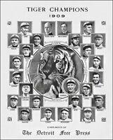 1909 Detroit Tigers Team Photo 8X10 Ty Cobb Sam Crawford #1 Buy Any 2 Get 1 FREE