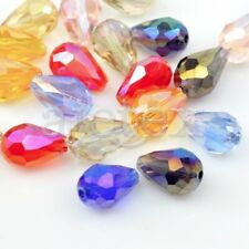 72pcs 6x8mm Assorted Teardrop Faceted Loose Crystal Beads Jewelry DIY IFCR0382