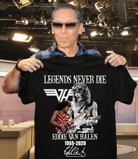 Legend Never Die Eddie Van Halen 1955-2020 Gift T-Shirt Unisex Size S-5XL