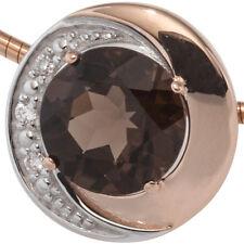 Halsreif-Anhänger Edelstein Brillant 585er echt Gold Rotgold 14K rund Diamanten