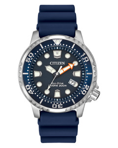 Citizen Promaster Diver Eco Drive Blue Dial Rubber Band Men's Watch BN0151-09L