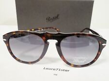 Persol 649 54-20 Havana 24/86 Crystal Blue Sky occhiali sole sunglasses New