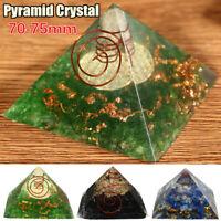 Pyramid Crystal Yoga Energy Gemstone Meditation Healing Stone Home