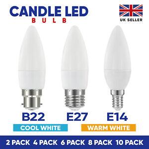 Candle LED Light Bulbs 6W E14 E27 B22 Lamps Warm Cool Day White Down lights 240V