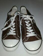 Converse One Star Brown Womens Tennis Shoes Sneakers sz 9 canvas