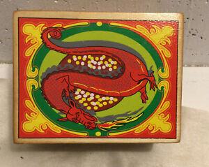 Wooden Nesting Box Set, Red Dragn, Gold