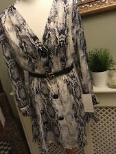 ZARA Black Grey Snake Print Mini Dress MEDIUM SOLD OUT BNWT