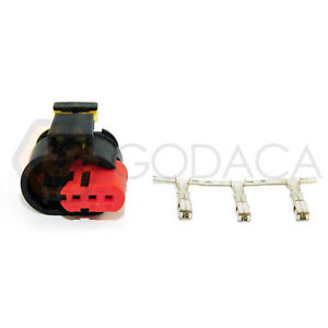1x Connector 3-way for Fiat Ignition Coil 46777288  w/out wire