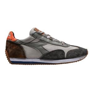 Sneakers in Camoscio e Kanwas Blu con Baffo Bianco Diadora Equipe New A//I /'19...