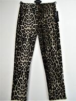 SALOOS ANIMAL PRINT SPARKLY STRETCHY TROUSERS/LEGGINGS SIZES UK12 14 16 18 20 22