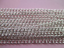 UK Jewellery 1 m Silver Plated Pendant locket Curb Necklace Pendant Chain 4x3mm