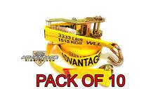 """Heavy Duty Ratchet Strap Tiedown 27'X2"""" Wire Hook 10k Break Strength 10 Pack"""