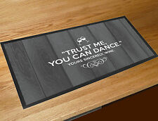 Trust me, you can dance - Wine funny quote printed bar runner counter mat