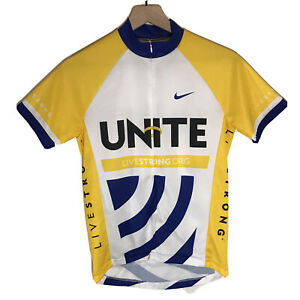 Nike Livestrong UNITE Cycling Jersey Yellow Womens Size Small
