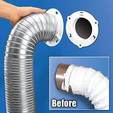 "New! 5000-1 ~DRYER DOCK~ White Dryer Vent Quick Connect Fits 4"" Tubes 6"" Overall"