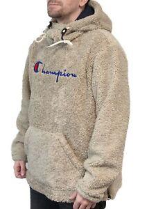 Champion Script Logo Teddy Hoodie - XL