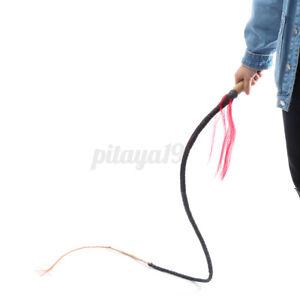 8ft Braided PU Leather Stockwhip Stock Whip Bullwhip Bull Whip Wooden Handle AU