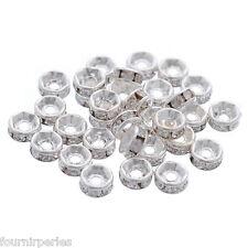 30 Rondelles Perles Intercalaires Argenté 5mm