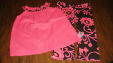 NWOT NEW BABY GAP  4T 4 YRS PINK BROWN FLORAL CAPRIS AND TOP SET