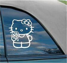 Hello Kitty Volkswagen vw Jetta cute gti gli stance funny lollipop car Decal