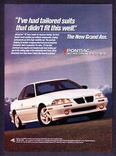 "1993 Pontiac Grand Am GT Coupe photo ""Puts You On Cutting Edge"" promo print ad"