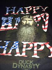 DUCK DYNASTY T-SHIRT HAPPY HAPPY HAPPY PHIL ROBERTSON American FLAG Small