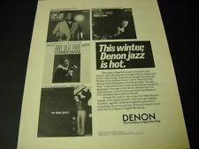 DENON JAZZ 1986 Promo Ad PHIL WOODS McCoy Tyner COUNT BASIE Carmen McRae mint