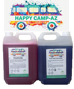 Blue & Pink Chemical Motorhome Caravan WC Toilet Fluid Cleaner & Protector- 2x5L