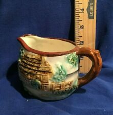 New listing Vintage Old English Countryside Scene Thatched Cottage Creamer