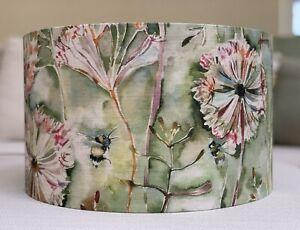 Handmade Lampshade Voyage Langdale Fabric Bees Dandelion Clocks Meadow Sweetpea