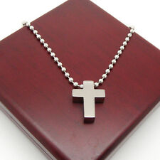 Classic 316L Stainless Steel Small Cross Health Care Pendant Necklace+Free Chain